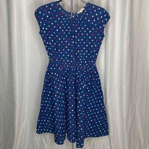 Lands End Kids Polka Dot Sleeveless Dress